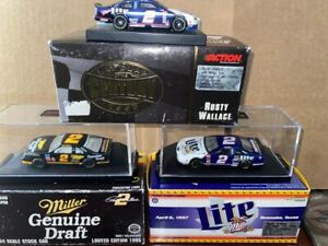 Rusty Wallace #2 Miller set of 3 1:64  with box LIMITED EDITIONS Last Lap