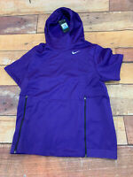 $85 Nike Therma Fit Short Sleeve Football Hoodie Men's Size Medium New NWT L214