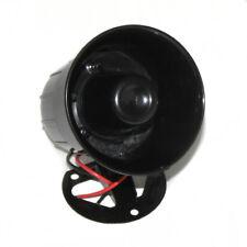 12V Siren Car Alarm Police Warning Fire Loud Horn Speaker Mic Black Alert