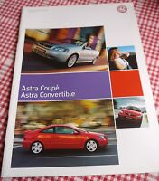 Vauxhall Astra Coupe and Convertible Sales Brochure (Ed1 2005)