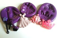PRINCESS Silicone Moulds Set Tiara Shoe Girlie Sugarpaste Chocolate Fondant