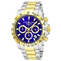 Stuhrling 891 04 Formulai Quartz Chronograph Stainless Steel Date Mens Watch