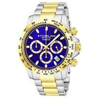 Stuhrling 891 04 Formulai Quartz Chronograph Stainless Steel Date Mens Watch