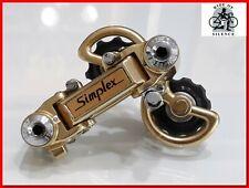 SIMPLEX SUPER LJ GOLD Made in France Vintage Rear Derailleur