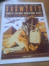 """2012 Sxsw """"Pleasure Up"""" Show concert Poster * music festival"""