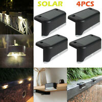 4PCS LED Warm White Solar PathStair Outdoor Light Garden Yard Fence Wall Lamp