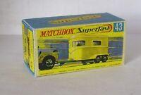 Repro Box Matchbox Superfast Nr.43 Pony Trailer
