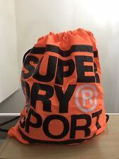 Superdry XL Drawstring Sports Bag - Hazard Orange BNWT