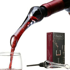 Wine Aerator Pourer Premium Aerating Pourer and Decanter Spout (Black)