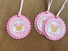 Gold Minnie Mouse Personalised Thank you Tags-Pink & Gold~Minnie Birthday Party
