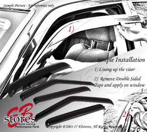 For Toyota Echo Sedan 00-05 Outside-Mounted Ash Grey Sun Roof Visors 5pcs Combo