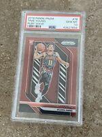TRAE YOUNG 2018 19 PANIN RUBY WAVE PRIZM ROOKIE HAWKS #78 PSA 10