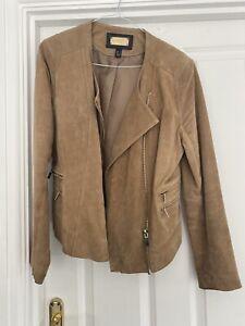 mango suede jacket XL