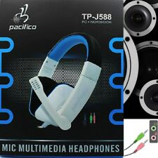 Auriculares Gaming microfono cascos musica juegos headphones blanco PC PS3 Jack