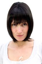 Femme Perruque Noir Sexy Frange Demi Long Lisse Postiche 35 cm MA-255-2
