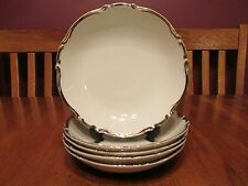 Beautiful Set of 5 Harmony House Japan Starlight Silver Rimmed Coupe Soup Bowls