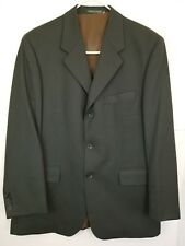 Jean Paul Germain Men's Blazer Sport Coat Wool Olive with Vest Size 40S