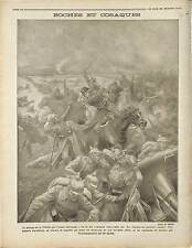 Bataille de la Vistule Battle of the Vistula River Warsaw Cossacks War 1914 WWI