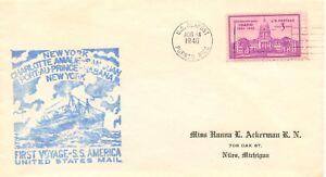 "USA 1940 ""U.S. SEAPOST - PUERTO RICO - S.S. AMERICA"" Schiffspost-SST S.S.AMERICA"