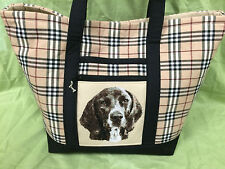 Breathtaking Custom Embroidered Plott Hound Tote