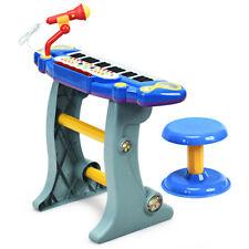 37 Tasten Keyboard Klaviertastatur&Hocker Kinder Ständer Klavier Spielzeug elek.