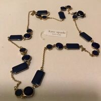 Kate Spade New York Blue Squares And Baubles Retired Necklace