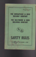 Baltimore & Ohio B&O Chesapeake & Ohio Railway Railroad Safety Rules 1968