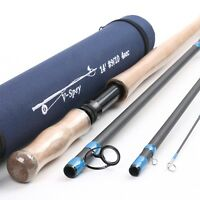 Medium fast Two-handed fly fishing rod spey and switch fly rod with cordura tube