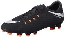 Nike Men's Hypervenom Phelon III FG Black Silver Soccer Cleats Size 6