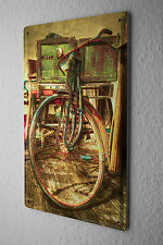 Retro Tin Sign Nostalgia bicycle garage 8X12