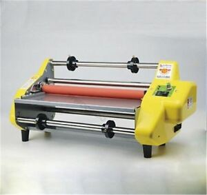 """17.5"""" A2 Roll Laminator Four Roller Hot Cold Laminating Machine For 442Mm Pap za"""