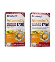2xPack Tetesept High Dose Vitamin D3 Tablets (100 Tablets) *GERMANY*
