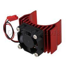 Red Aluminum 540 550 Heat Sink with Plastic Cooling Fan for RC1:10 Model Car