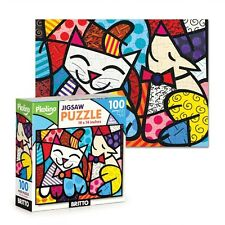 ROMERO BRITTO JIGSAW PUZZLE 100 PIECE  CAT & DOG  ** NEW ** SEALED