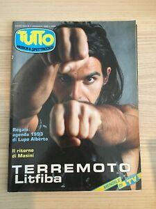 Rivista Tutto Anno XVII n. 1 Gennaio 1993 Piero Pelù Litfiba + Poster Jovanotti