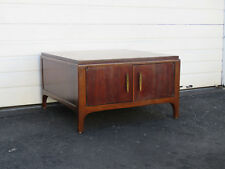 Mid Century Walnut Coffee or Large Side Table with Cabinet by Lane 8851