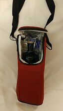 Flexi-Freeze Freezable Wine/Champagne Bottle Bag Cooler Burgundy- NEW IN PACKAGE