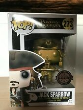 Funko Pop Jack Sparrow 273 Pirates of the Caribbean Gold Edition Exclusive