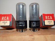 RCA NOS/NIB 25L6GT gray vacuum tubes matched and guaranteed