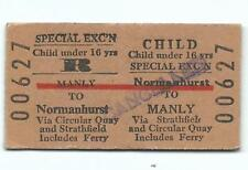 Child Economy Special Exc'n Return Normanhurst to Manly 00627 Cancelled on Face