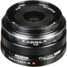 New OLYMPUS M.ZUIKO Digital 17mm f/1.8 Lens - BLACK
