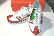 Nike 334097 161 Speedlax Lacrosse Turf Shoes Cleats White/Red Women's 6