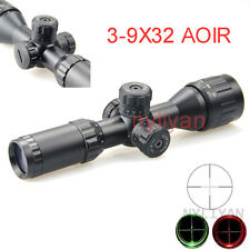 Illuminated 3-9x32Red/Green Mil Dot Reticle Optic Scopes Sight for Rifle Hunting
