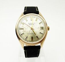 POLJOT ПОЛЕТ Solid 14K Gold Case Russian USSR Automatic Watch