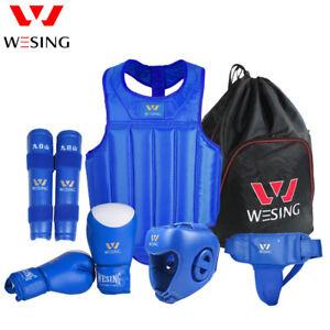 Wesing Boxing gear set Martial Arts equipments Sanda Protective Gears MMA 6pcs