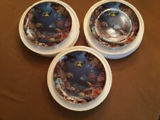 Danbury Mint Hidden Paradise 1995 Limited edition collector plate Set Of 3