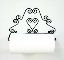 "Handmade Wrought Iron Heart Paper Towel Holder-13""W x 8.25""H."