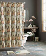 """Croscill Home 70"""" x 72"""" Shower Curtain Bath Mosaic Floral Leaves J9X089"""
