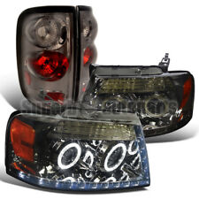 2004-2008 Ford F150 Halo Projector LED Headlights+Tail Brake Lights Smoke