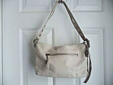 COACH 1417 EAST WEST LEGACY Purse Shoulder Duffle Bag Cream White All Leather